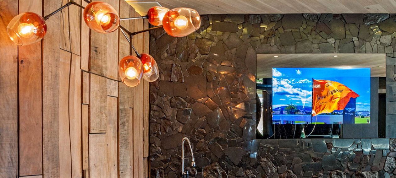 "65.0"" Mirror TV for commercial application, installed in a restaurant, bar & club environment @ Ellerman House Villa Two in South Africa."
