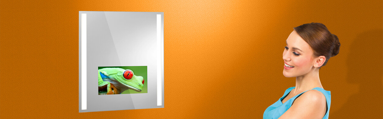 Lighted Mirror TV Insert